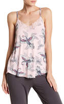 PJ Salvage Take Flight Swan Print Lace Trim Racerback Cami