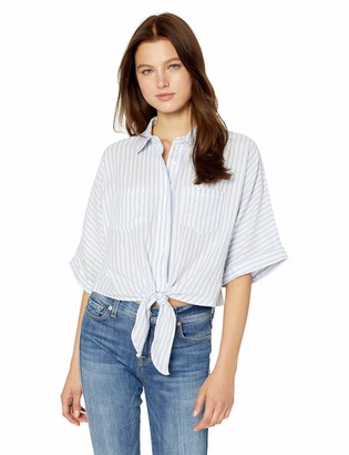 Cupcakes And Cashmere Women's Saundra Striped Dolman Button Down Top