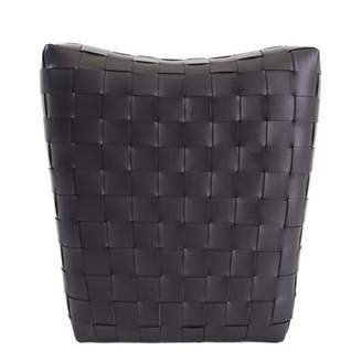 Foundry Select Dareau Leather Pouf Ottoman Foundry Select Color: Black