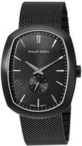Philip Stein Teslar Men's 'Modern' Swiss Quartz Stainless Steel Casual Watch, Color:Black (Model: 72B-CRGBK-MSSBP)