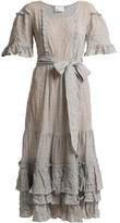 Lisa Marie Fernandez January Striped Seersucker Dress - Womens - Black Stripe