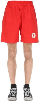 Drole De Monsieur Logo Patch Shorts