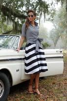 Shabby Apple Steamboat Stripe Skirt