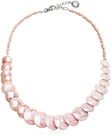 Antica Murrina Veneziana Monete 2 Pastel & Transparent Light Pink Murano Glass Choker