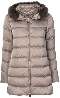 Herno detachable fur collar puffer jacket