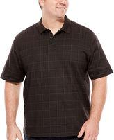 Van Heusen Short Sleeve Solid Knit Polo Shirt Big and Tall
