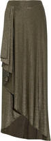 Haute Hippie Asymmetric stretch-jersey maxi skirt