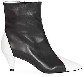 Givenchy Women's Two-Tone Leather Ankle Boots