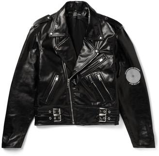 Enfants Riches Deprimes Printed Leather Biker Jacket