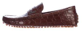 Gucci Caiman Driving Loafers w/ Tags