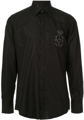 Dolce & Gabbana logo heart patch shirt