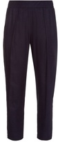 Raquel Allegra Relaxed silk-noil trousers