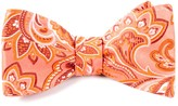 The Tie Bar Coral Organic Paisley Bow Tie