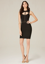 Bebe Studded Keyhole Dress