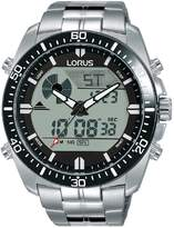 Lorus Lorus Black Digital and Analogue Dial Stainless Steel Bracelet Mens Watch