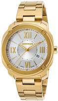 Wenger 01-1141-122 Men's Edge Romans Gold-Tone Stainless Steel -Tone Dial Watch