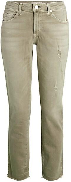 Stix Distressed Cropped Jeans