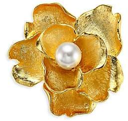 Kenneth Jay Lane Women's Faux-Pearl Flower Brooch
