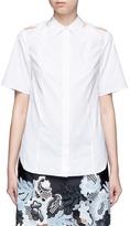 3.1 Phillip Lim Twist knot cutout shoulder cotton shirt