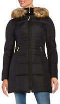 Vince Camuto Slim-Fit Faux Fur Hooded Puffer Jacket