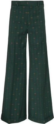 Gucci pinstripe flared trousers