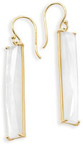 Ippolita 18K Polished Rock Candy Mother-of-Pearl Drop Earrings, White