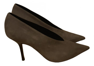 Celine Soft V Neck Grey Suede Heels