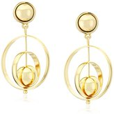 "Trina Turk Psychadelica"" Gypsy Double Gold Drop Earrings"