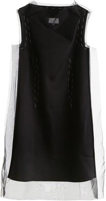 Maison Margiela Sheer Overlay Sleeveless Dress