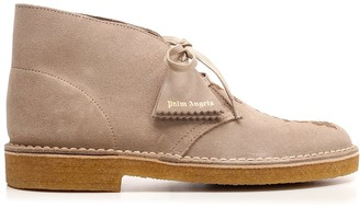 Palm Angels X Clarks Logo Ankle Boots