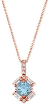 "LeVian Le Vian Baguette Frenzy Multi-Gemstone 20"" Pendant Necklace (1-1/3 ct. t.w.) in 14k Rose gold"