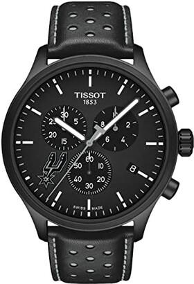 Tissot Chrono XL NBA Chronograph San Antonio Spurs - T1166173605104 (Black/Black/Silvered) Watches