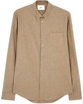 Folk Brown Brushed Cotton Oxford Shirt