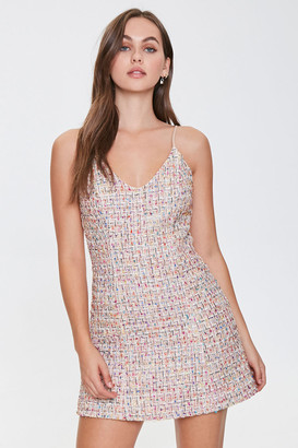 Forever 21 Multithreaded Tweed Cami Mini Dress