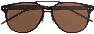 Bottega Veneta Tortoiseshell Aviator-Frame Sunglasses
