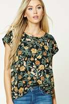Forever 21 Boxy Floral Print Top