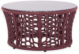 ZUO Faye Bay Beach Outdoor Coffee Table in Red/Grey