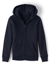 Lands' End Girls Zip-front Sweatshirt-Red