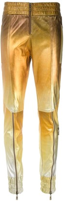 Andrea Bogosian Tonal Leather Skinny Trousers