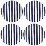 Kate Spade Set of 4 Charlotte Street Tidbit Plates - Blue/White