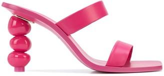 Cult Gaia Meta stacked stone heel
