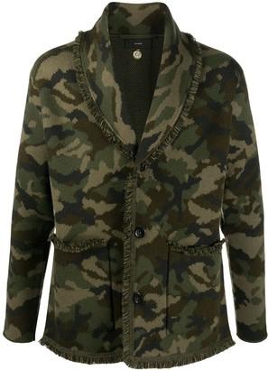 Alanui Camouflage Pattern Fringe Jacket
