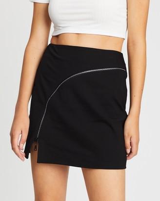 Twiin Pressure Zip Mini Skirt