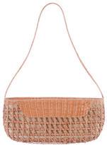 Nancy Gonzalez Woven Crocodile Shoulder Bag