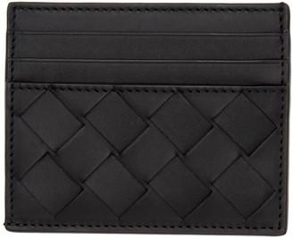 Bottega Veneta Black Intrecciato Half Open Card Holder