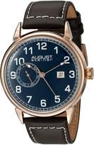 August Steiner Men's AS8182RGBR Analog Display Swiss Quartz Brown Watch