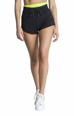 Gianni Kavanagh Women's Black Neon Yellow Shorts Board S