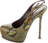 Saint Laurent Snakeskin Tribute Two Pumps