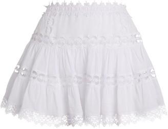 Charo Ruiz Ibiza Greta Lace Panel Mini Skirt