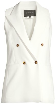 Lafayette 148 New York Vaughn Double-Breasted Vest